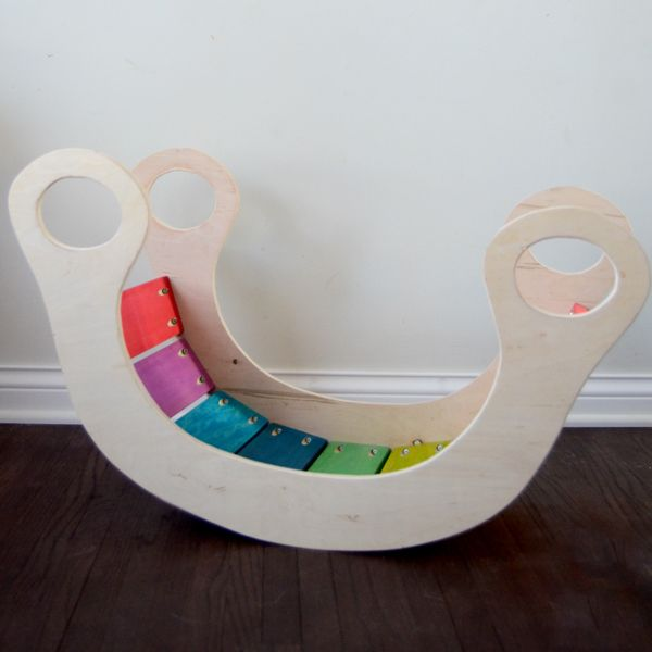 I wanted to do a special handmade gift for Claire's upcoming birthday since I was jonesing for a new project now that our kitchen's mostly finished. Naturally, I  went to my pinterest boards for ideas and came across this pin. The rainbow rocker retails for only 139 euro ($188 USD), and that doesn't even include …
