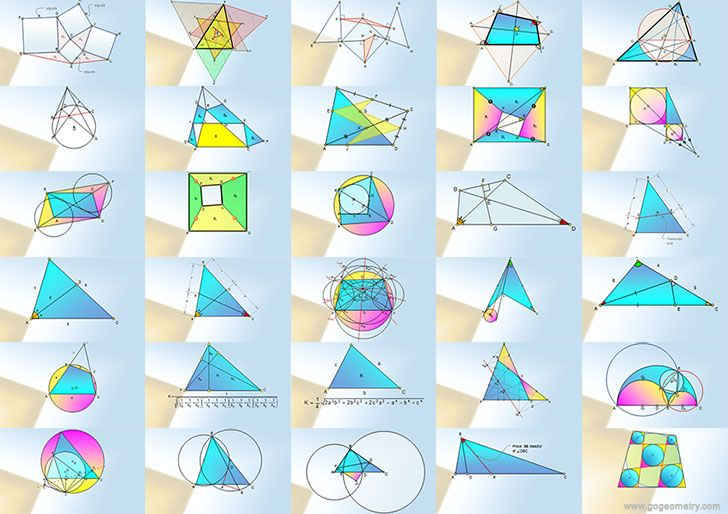 Math Infographics, Geometry Problems