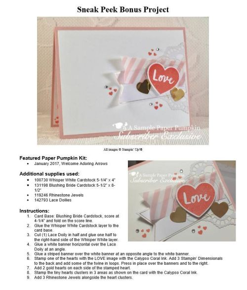 My Paper Pumpkin subscribers get 10-13 exclusive project ideas each month. This is a peek at one of the January 2017 Adorning Arrows kit exclusive alternate projects… #stampyourartout - Stampin' Up!® - Stamp Your Art Out! www.stampyourartout.com