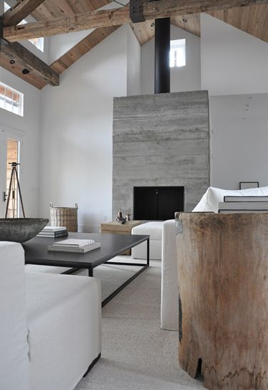 gorgeous contemporary rustic elements - living room - Briggs Edward Solomon