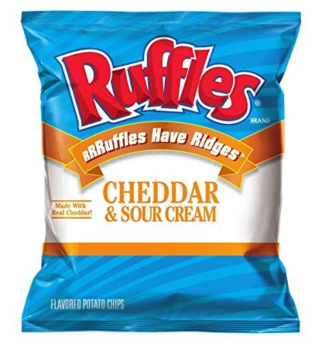 Ruffles Ridged Potato Chips Cheddar Sour Cream 15Ounce Large Single Serve Bags Pack of 64 *** Want additional info? Click on the image.