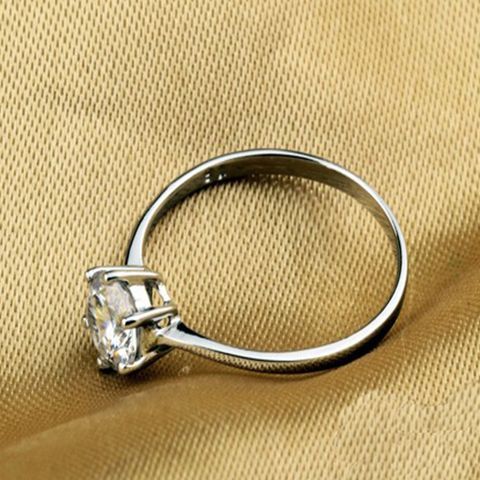 Sterling Silver with Cubic Zirconia Wedding Ring