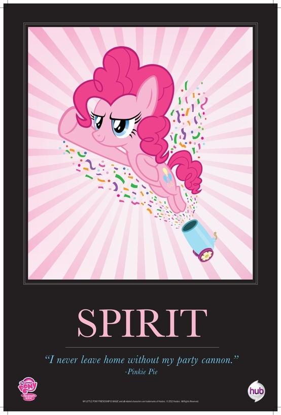 I'm not sure how or when, but Kiddo somehow became a fan of the ponies. She knows this is Pinkie Pie...but how?