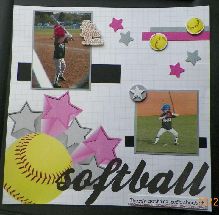 Handmade Softball Scrapbook page 303 best sports