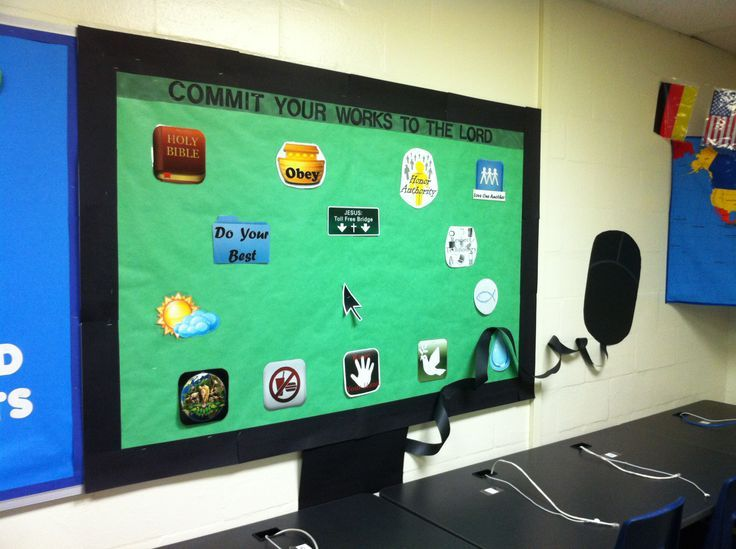 3D bulletin board; Monitor the Rules of Computer Class