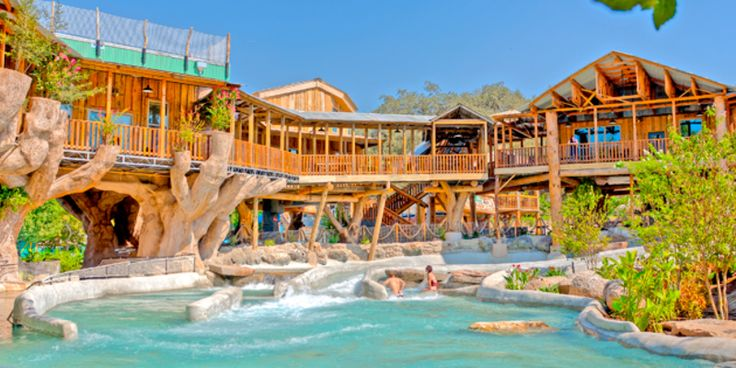 The Treehaus Resort comes with its own lazy river #travel #roadtrips #roadtrippers
