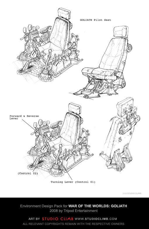 Environment Design Pack for War Of The Worlds: Goliath --- Goliath pilot seat