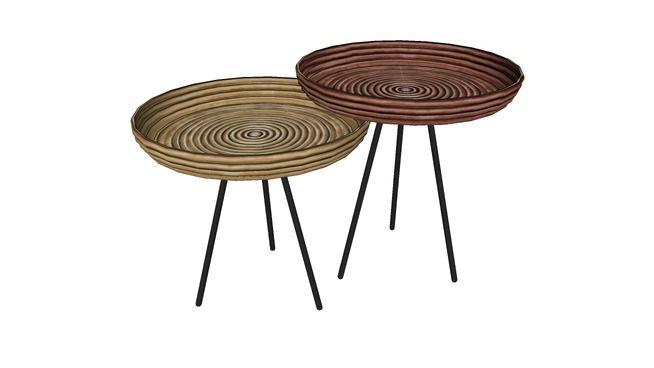 Large preview of 3D Model of KARE Side Table Bowl (2/Set) (Beistelltisch Bowl (2/Set)