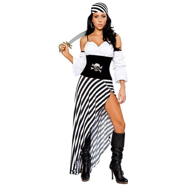 Adult Sexy Pirate Lass Costume ($80) ❤ liked on Polyvore featuring costumes, halloween costumes, multicolor, sexy adult halloween costumes, sexy womens halloween costumes, adult women halloween costumes, sexy pirate halloween costumes and adult pirate costumes