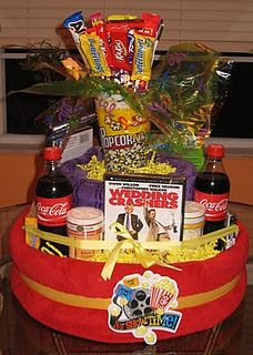 Movie Nite Tower: Towers, Giftideas, Tower Cakes, Diapers, Gift Ideas, Gifts, Movie Night, Movie Nite Gift Tower Jpg