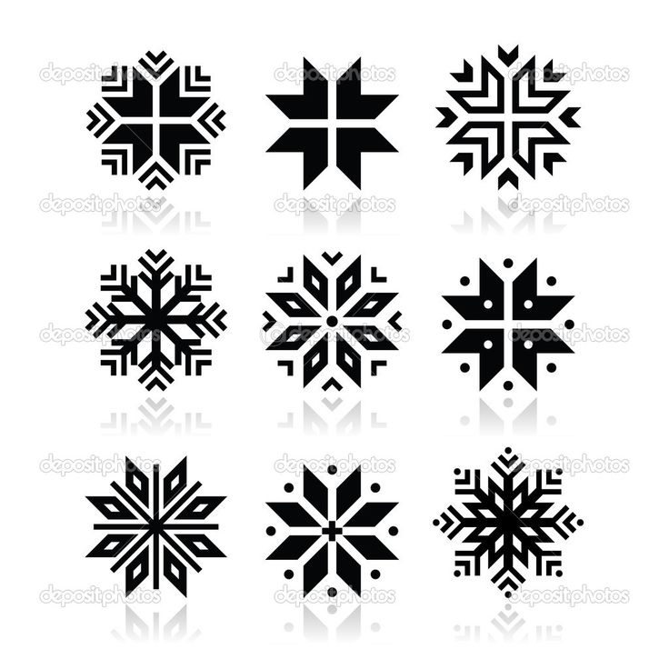 Boże Narodzenie, zima płatki śniegu wektor zestaw ikon - Ilustracja stockowa: 35260461