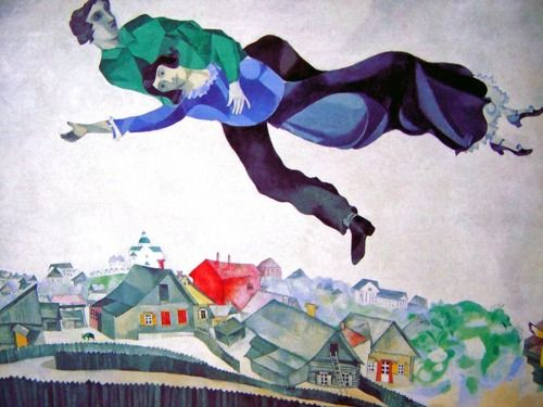 over the town, marc chagall, 1918
