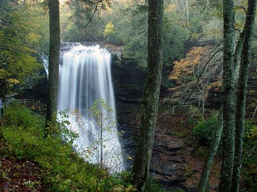 North Carolina mountain waterfall
