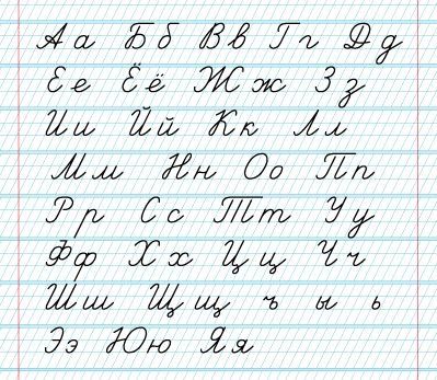 Alfabet rosyjski - litery pisane