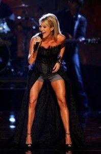 Carrie Underwood's legs....obsessed with getting them.  1 lunge at a time!