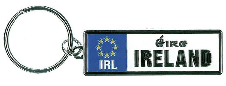 Eire European Licence plate Metal Keyring  http://paddywhackery.ie/home/keyrings/