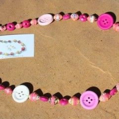 Little Girls Paper Bead Jewellery