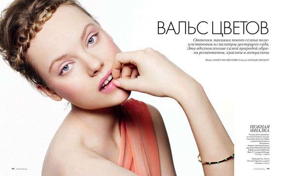 #Magazine: #Elle Russia, April 2012 Photographer: Shoky Van der Horst Featuring: Luize Salmgrieze Stylist: Nathalie Croquet #Makeup: Gaelle March Hair: Patrice Delaroche