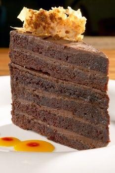 May we tempt you with a little desert? Enjoy this chocolate cake at Hyatt Regency Aruba.