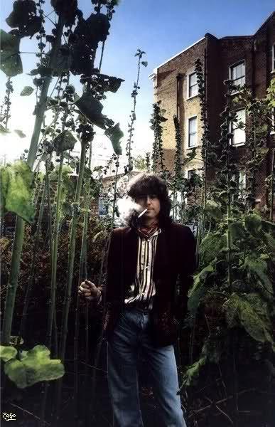 "1977* ""The herb garden at the Swan Song office.""  -----------------------------  (aaaaaaand Jimmy's fly is down again. ***eye roll***) [dnlok]"