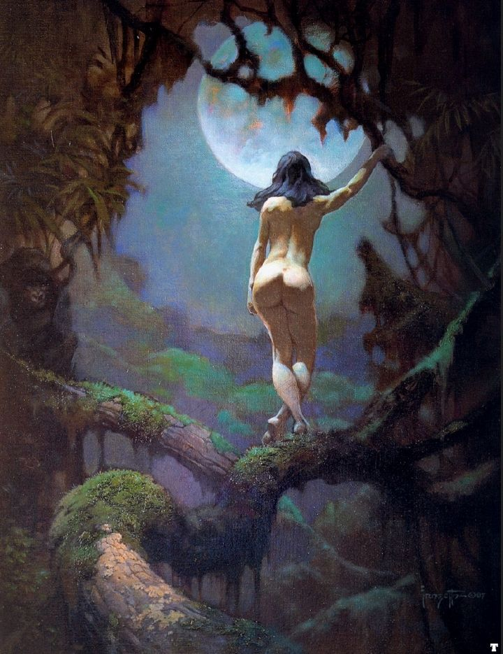 FRANK FRAZETTA - The Moon's Rapture                                                                                                                                                                                 More