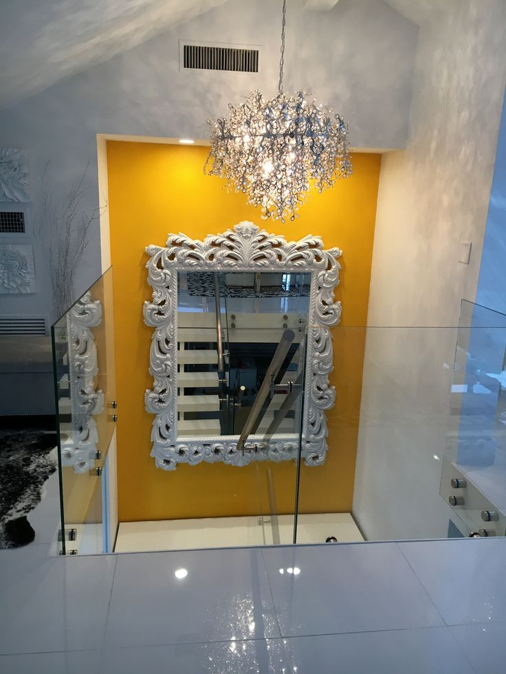 This submission is from @baersfurniture in Naples, FL. It is of our huge Napoleon Mirror that they had painted white from our custom paint program!