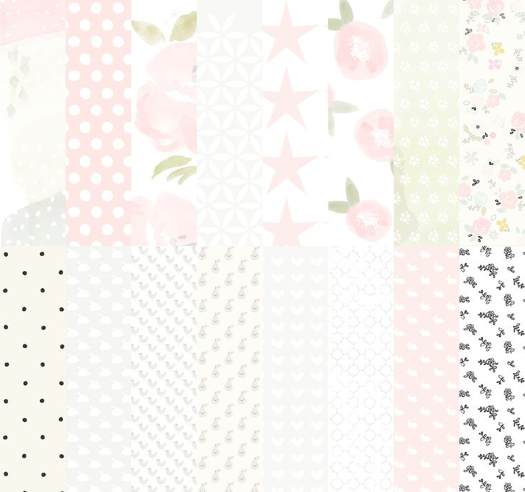 'Molly Rose' printable Digital Paper Pack. By The Lovely Studio.