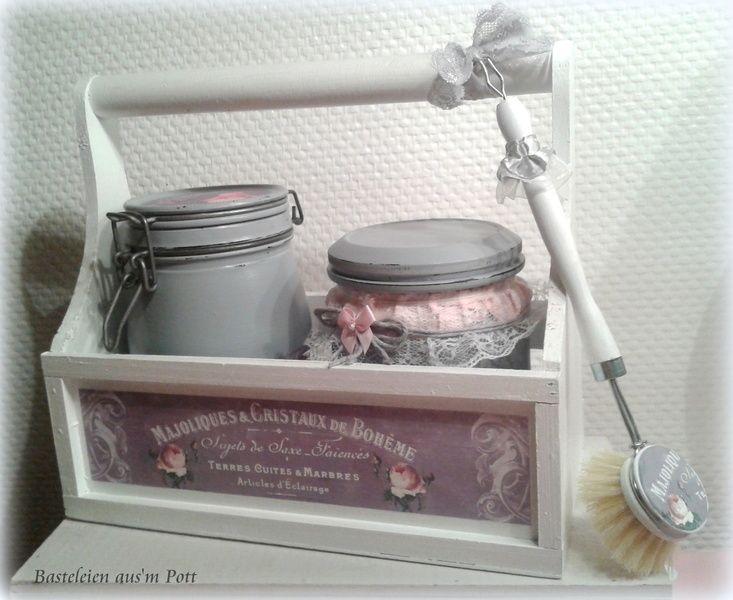 deko set k che gl ser aufbewahrung shabby vintage von basteleien aus 39 m pott auf http. Black Bedroom Furniture Sets. Home Design Ideas