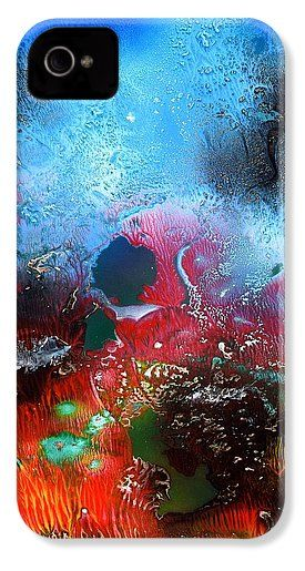 World Of Reefs IPhone 4 / 4s Case Printed with Fine Art spray painting image World Of Reefs by Nandor Molnar (When you visit the Shop, change the orientation, background color and image size as you wish)