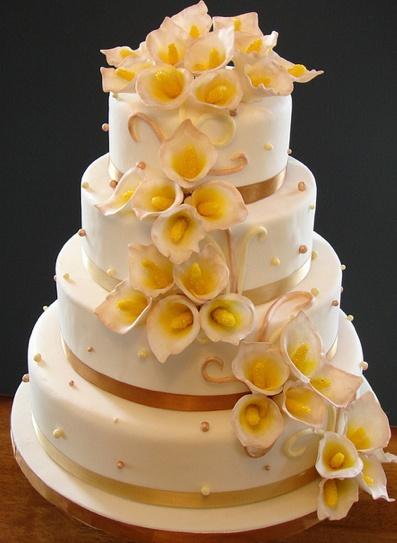 calla lily wedding cake!