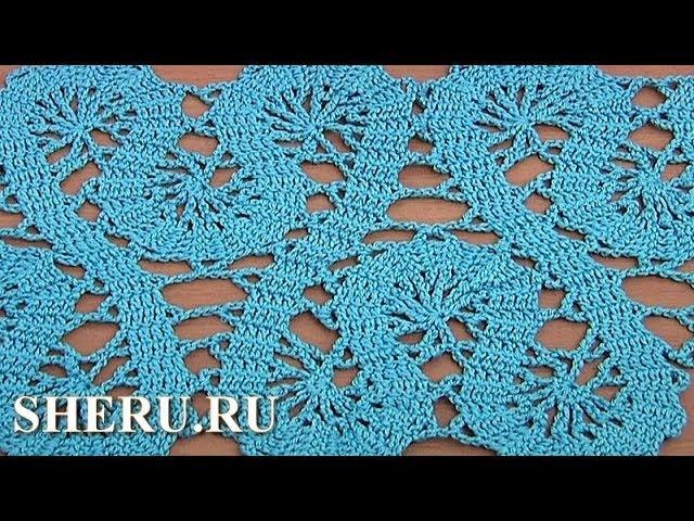 How to Crochet Bruges Lace Tape Tutorial 19 Part 2 of 2 Кайма или лента в технике брюггского кружева