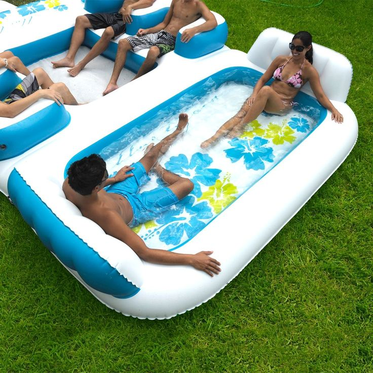 Amazon.com: New Giant Inflatable Floating Island 6 Person