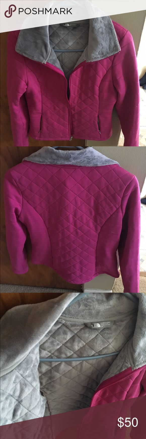North Face jacket Magenta and Gray.. Size Small.. Never Used its too small. Got at North Face outlet. No tags North Face Jackets & Coats