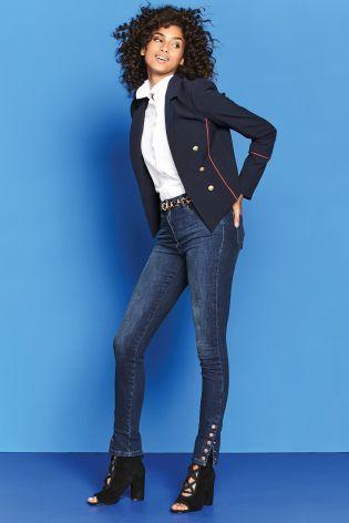 Buy Popper Hem Skinny Jeans online today at Next: Israel