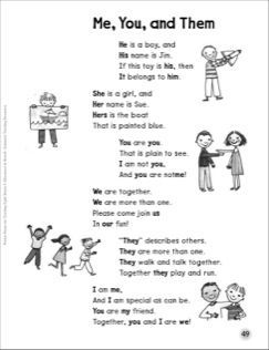 Image result for pronoun poem