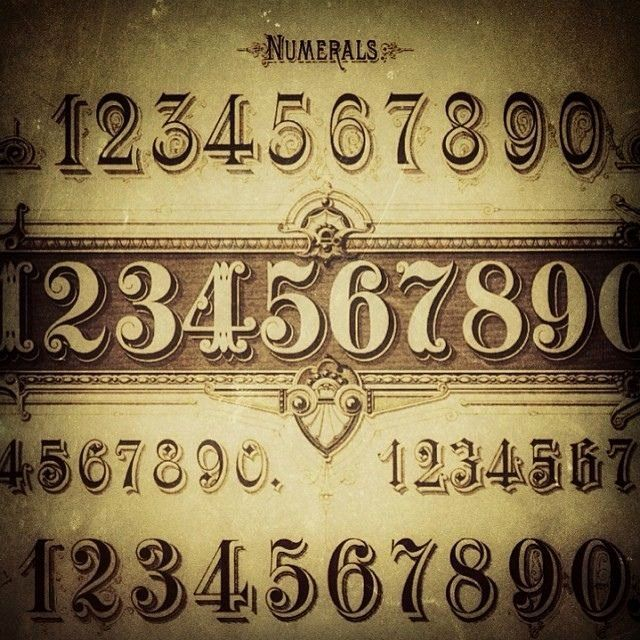 Number Fonts For Tattoos Beautiful The 25 Best Number Fonts Ideas