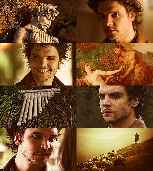 "dragonfiretwistedwire: "" Greek Mythology Dreamcast - Andrew-Lee Potts as Pan Through wooded glades he wanders with dancing Nymphai who foot it on some sheer cliff's edge, calling upon Pan, the..."