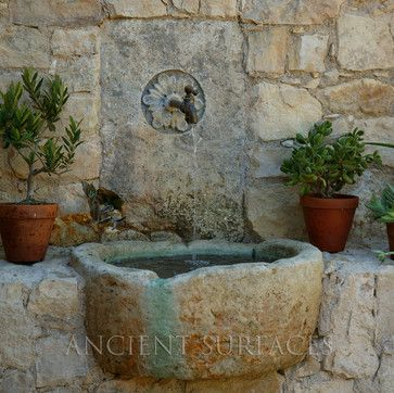 Outdoor Wall Fountain mediterranean outdoor fountains