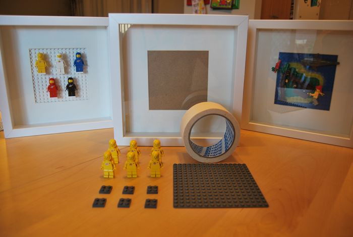 Easy DIY Lego minifigurine display case with RIBBA