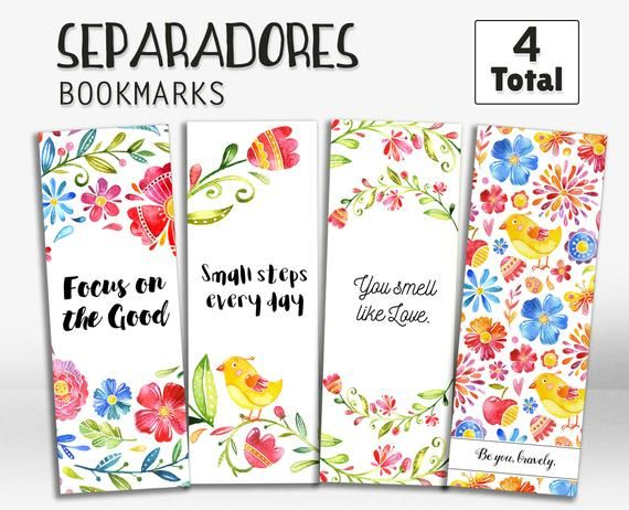 Bookmarks In Spanish Printable Bookmarks Bookmarks With Quotes En