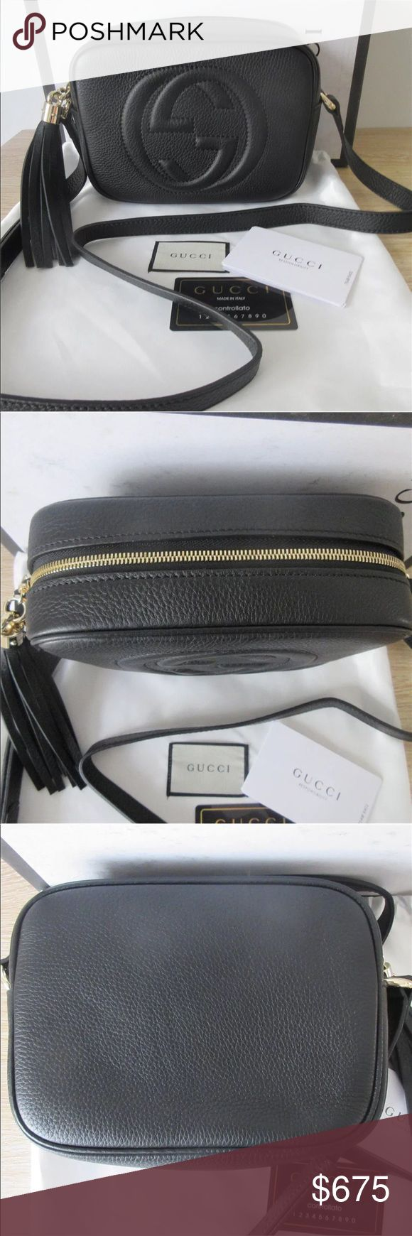 Gucci Soho Disco Crossbody Bag Black 100% Authentic 🔺 We are a very negotiable service 🔺 We provide overnight shipping and express shipping 🔺 Our transactions are made through third party applications 🔺 If you are interested in buying this product please contact us via 646-431-6521 🔺 Gucci Bags Crossbody Bags