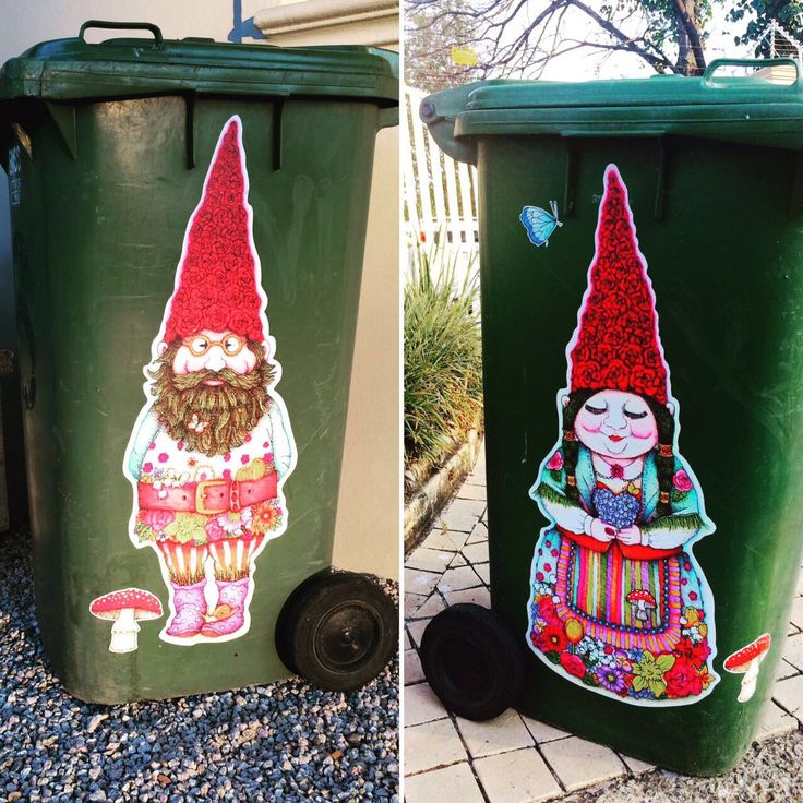 Tracy Paul wheelie bin decals stickers from macaroon.co.za