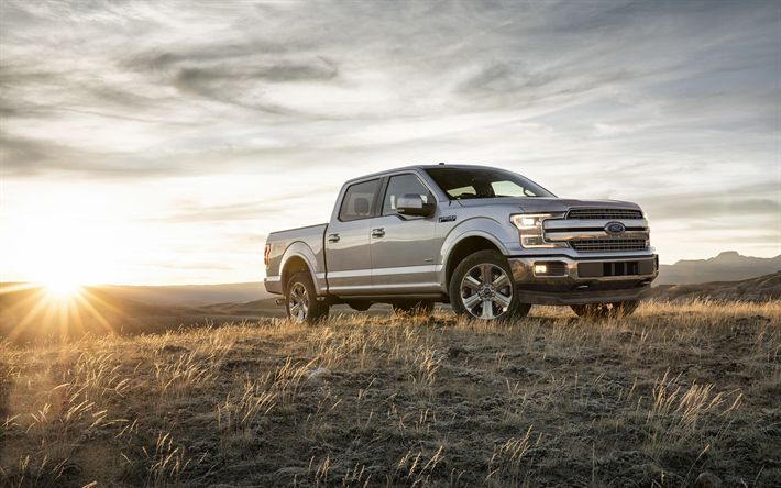 Download wallpapers Ford F-150, 2018, New cars, pickup, F-150, big cars, American cars, Ford