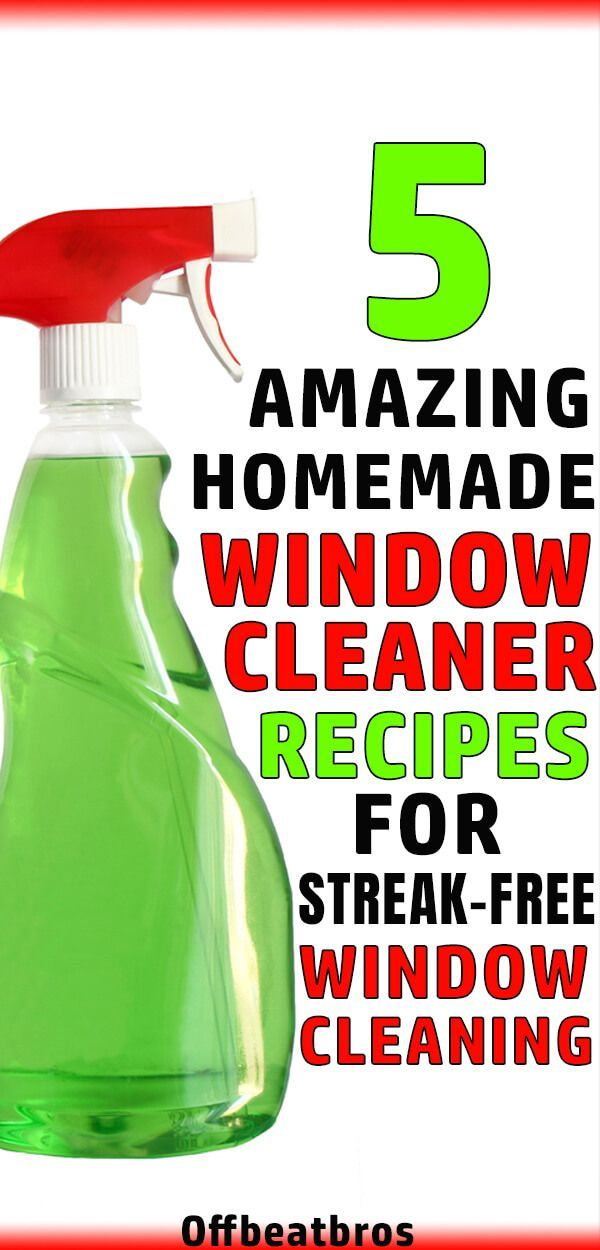 5 Best Homemade Window Cleaner Recipes