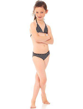 KiabiTweedelige bikini met een print                                                                                                 zwarte print Kinderkleding meisje