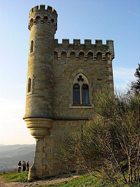 Château deRennes-le-Château, département de l'Aude et la région Languedoc-Roussillon,France.