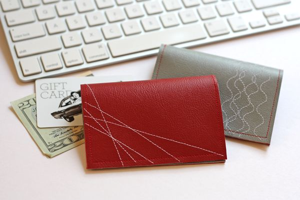 Make a simple, stitched vinyl wallet