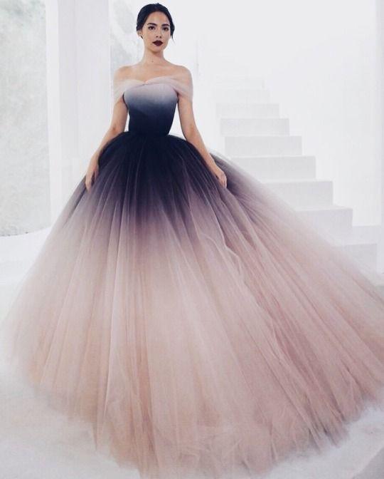 off Schulter Ballkleid, Tüll Partykleid, langes Kleid, elegantes Abendkleid