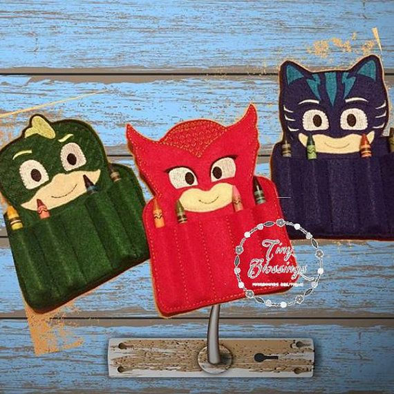 PJ Mask Inspired Crayon Holder by TamsTinyBlessings on Etsy