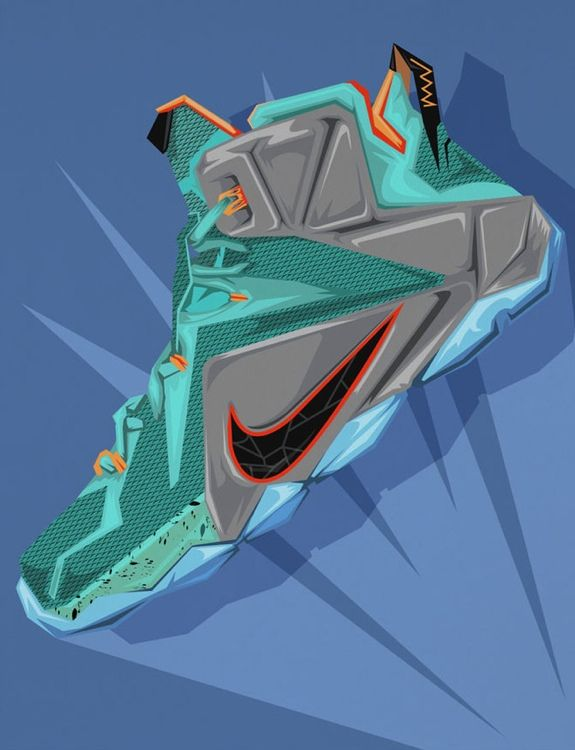 Muideen Ogunmola illustrates the next big thing in shoes from the LeBron James signature line. Inspired by all things emblematic of the four time MVP.